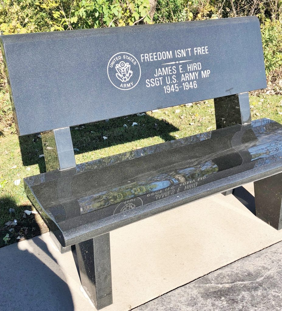 Purchase a Bench for $5,000   Call 319-327-0538
